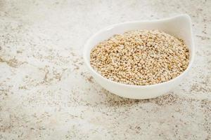 sementes de gergelim sem casca foto