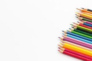 lápis de cor com espaço de cópia foto