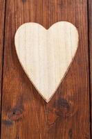 coração de madeira, cópia espaço foto
