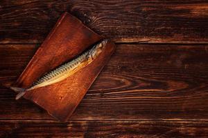 peixe de estilo vintage com espaço de cópia. foto