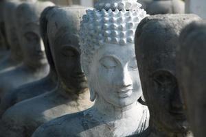 estátuas de Buda, rosto de Buda, Tailândia, Ásia foto