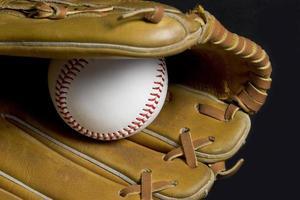 luva de baseball foto