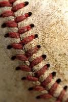 costura de beisebol foto