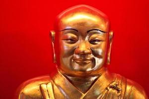 lindo rosto da imagem de Buda foto