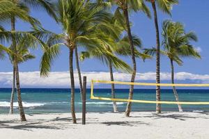 rede de vôlei de praia foto