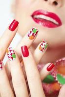 manicure texturizado. foto