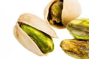 close-up de pistache foto