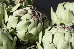 alcachofras frescas, close-up