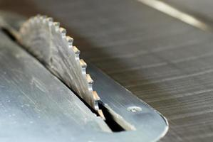 lâmina de serra de mesa close-up