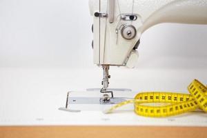 máquina de costura fechar. foto