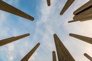 pilares de concreto close-up foto