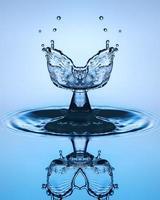 gota de água de perto foto