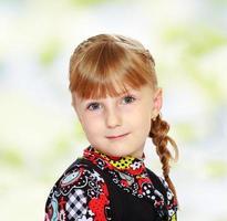 menina encantadora close-up. foto