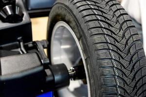 balanceamento de roda close-up foto