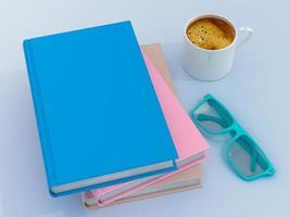 modelo de maquete de livro de cor vazia foto