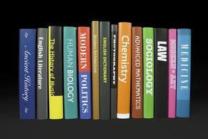 livros em preto
