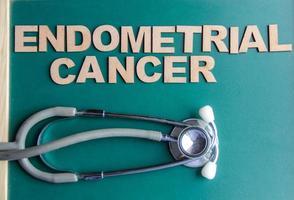 câncer endometrial de palavra com estilo retrô, escrito com alfabetos foto
