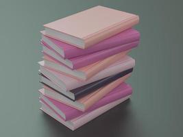 modelo de maquete de livro de cor vazia no fundo preto