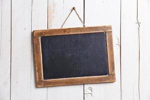 placa de giz ardósia vintage foto