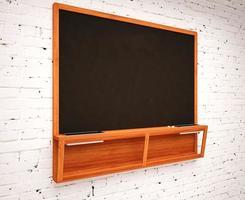 quadro de giz preto escola em branco foto