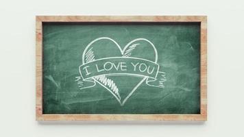 desenho de lousa de amor foto