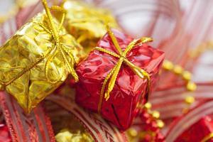 caixas de decoração de natal foto