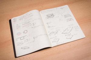 caderno de desenho foto