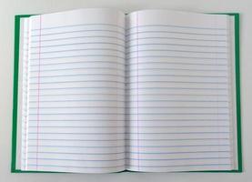 caderno verde foto