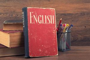 aprendendo o conceito de inglês foto