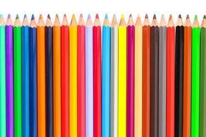 colorido de lápis de cor foto