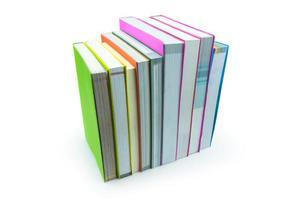 livro isolado no fundo branco foto