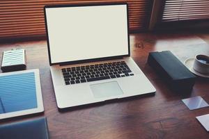 negócios eletrônicos e conceito de trabalho à distância foto