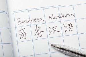 mandarim negócios foto