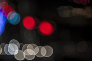 pontos de luz desfocados