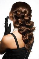 penteado na moda foto