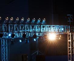 equipamento de iluminação de estúdio foto