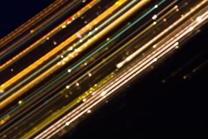 linhas de luz abstratas foto