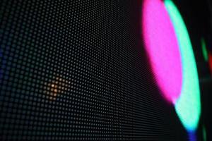 diodos emissores de luz azuis verdes vermelhos. foto