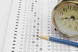 formulário de teste padronizado foto