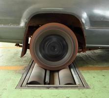 sistema de teste de freio de carro foto
