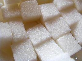 cubos de açúcar foto