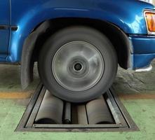 sistema de teste de freio do carro foto