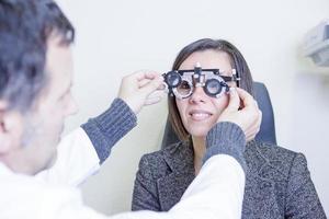 calibrar o olho phoropter óculos de teste