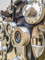 phoropter -diopter - dispositivo de teste do local dos olhos foto
