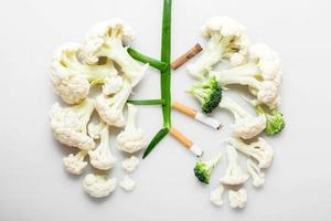 pulmões do fumante