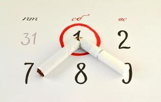parar de fumar cigarros neste dia foto