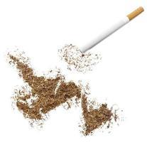 cigarro e tabaco em forma de terra nova (série) foto