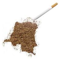 cigarro e tabaco em forma de república democrática do congo foto