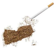 cigarro e tabaco em forma de Iêmen (série) foto