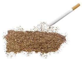 cigarro e tabaco em forma de porto rico (série) foto